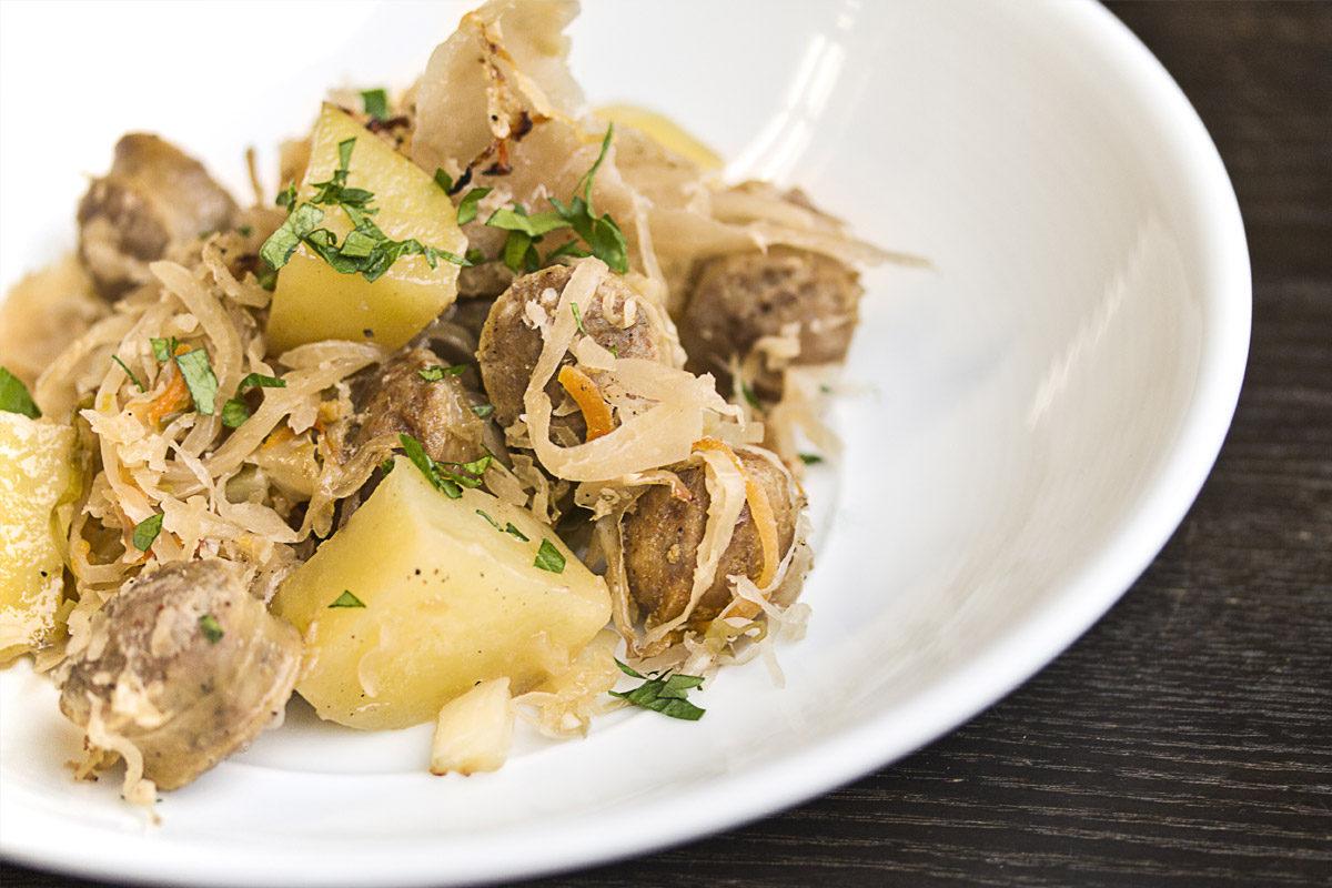 Marko's Sausage & Kraut Comfort Food Casserole