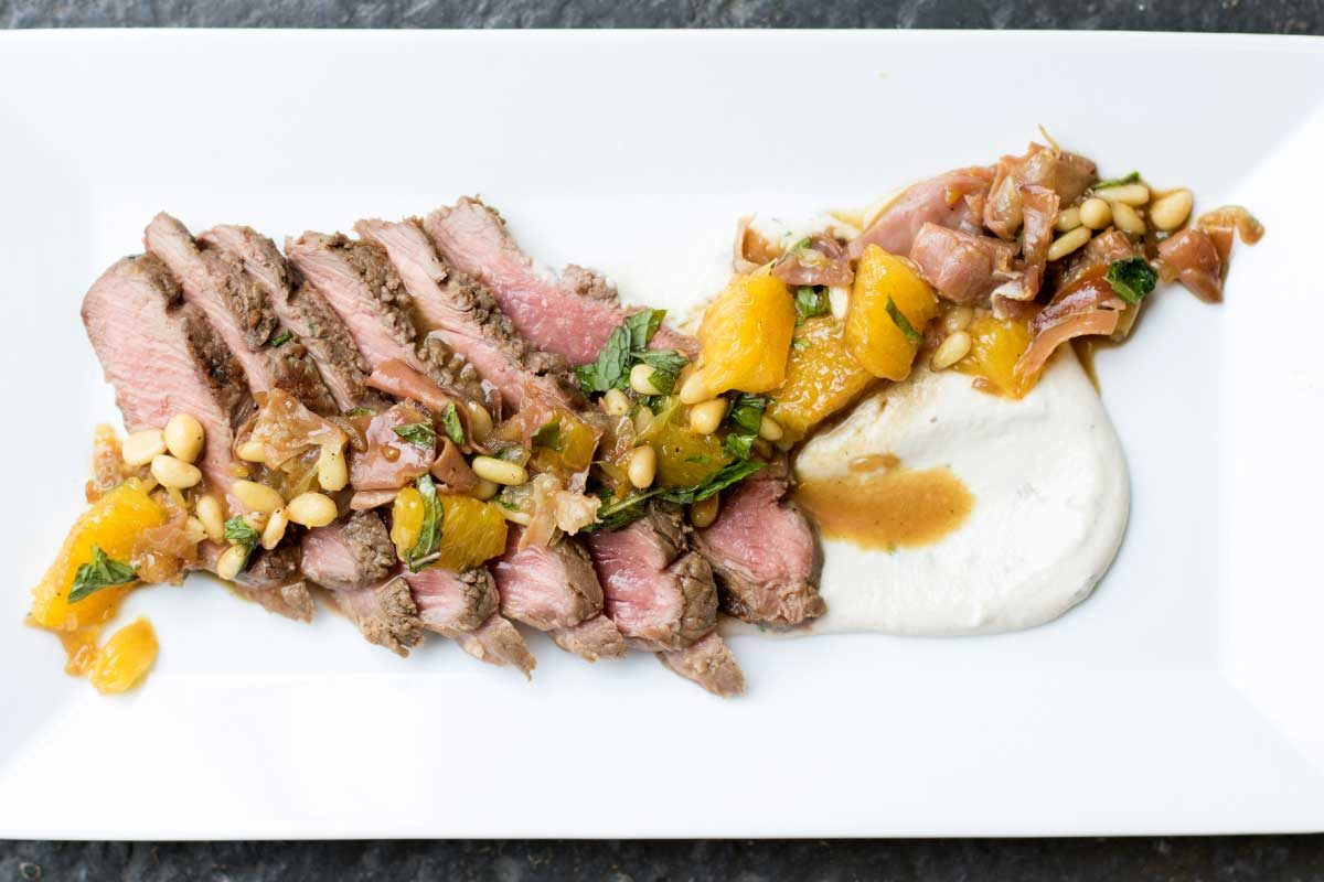 Merino Loin Fillets w/ Cashew Cream & Orange Sauce
