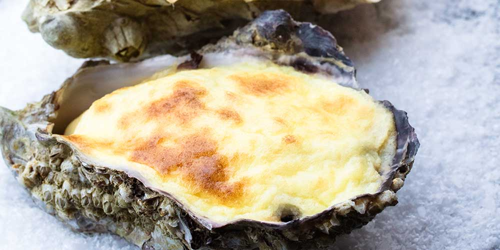 Mushroom & Lemon Baked Oysters