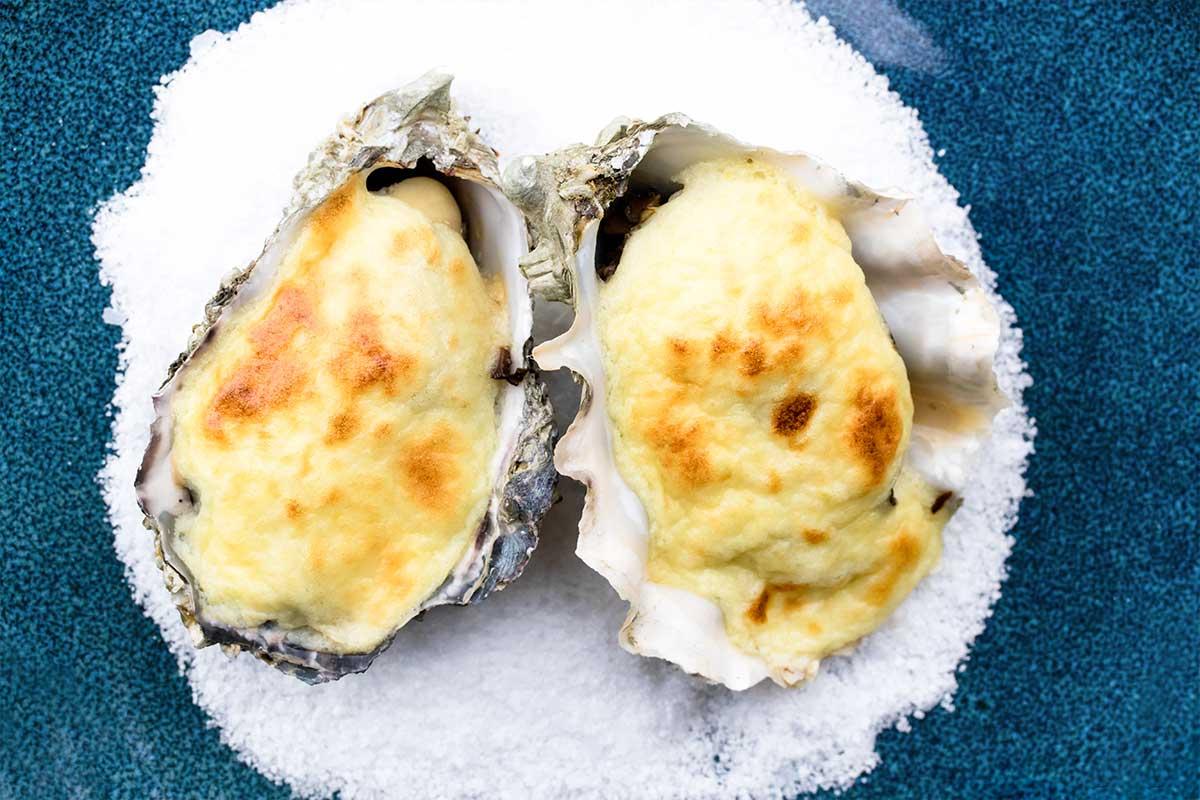 Mushroom & Lemon Baked Oysters - Marx Foods Blog