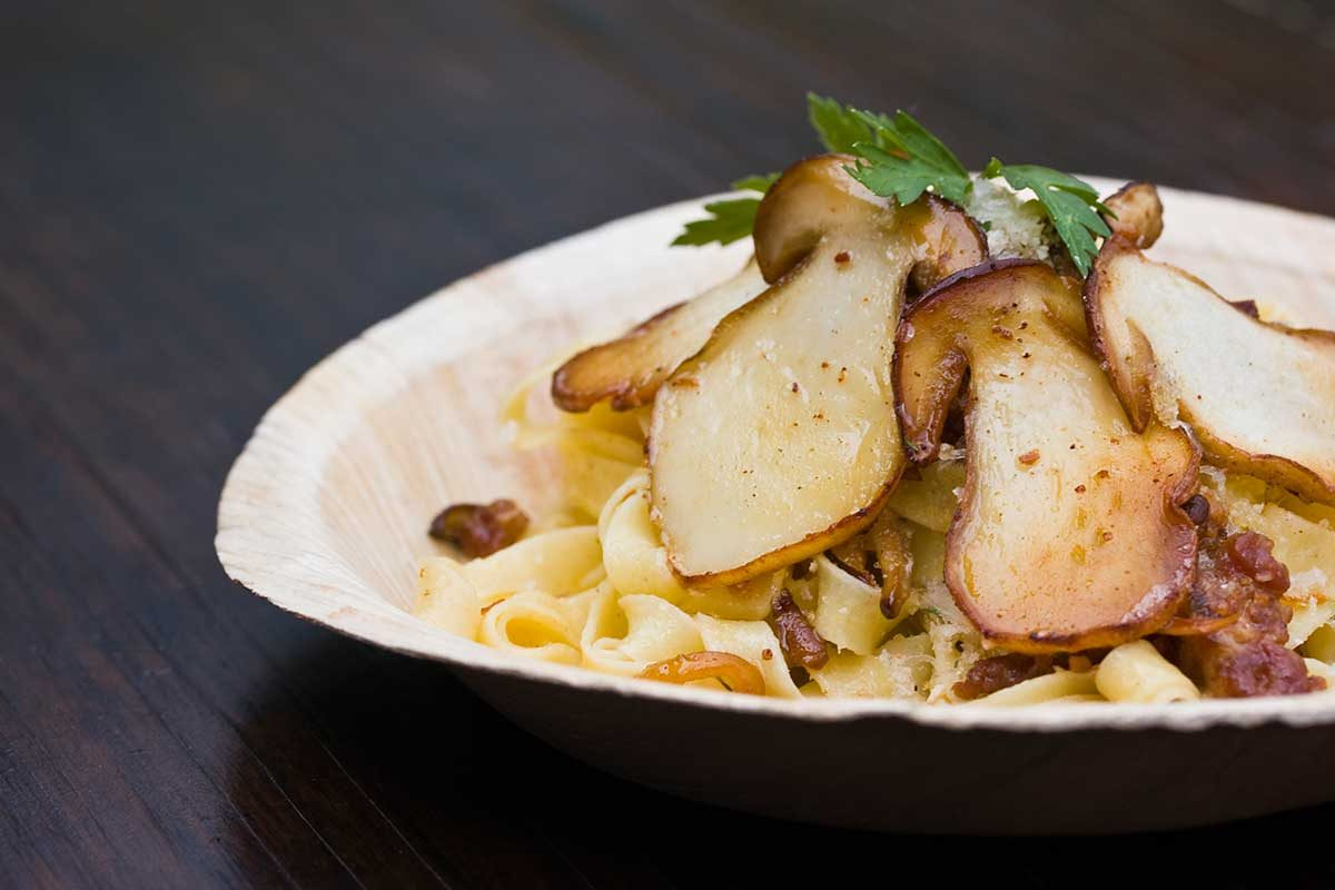Truffle Butter Pasta pasta tossed with fresh mushrooms, sausage & truffle butter - marx