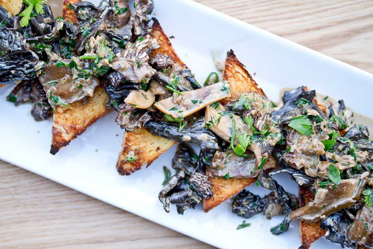 Wild Mushrooms on Toast Points