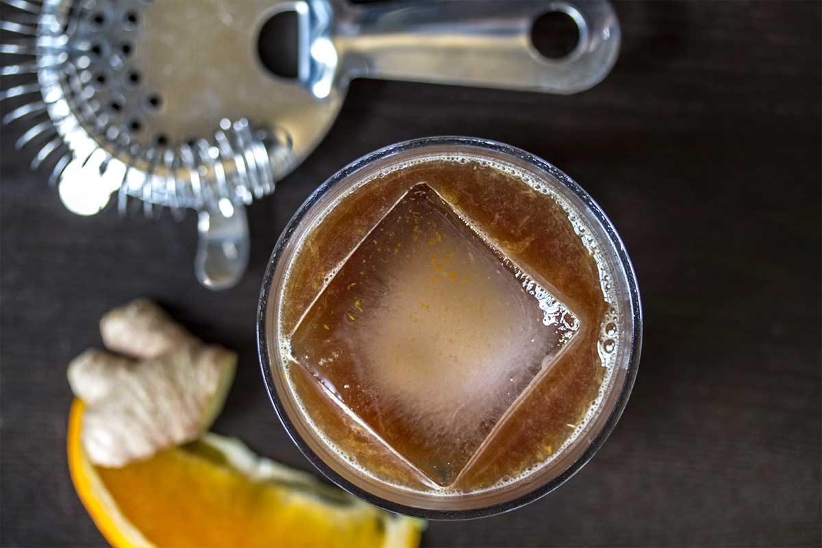 orange ginger balsamic cocktail