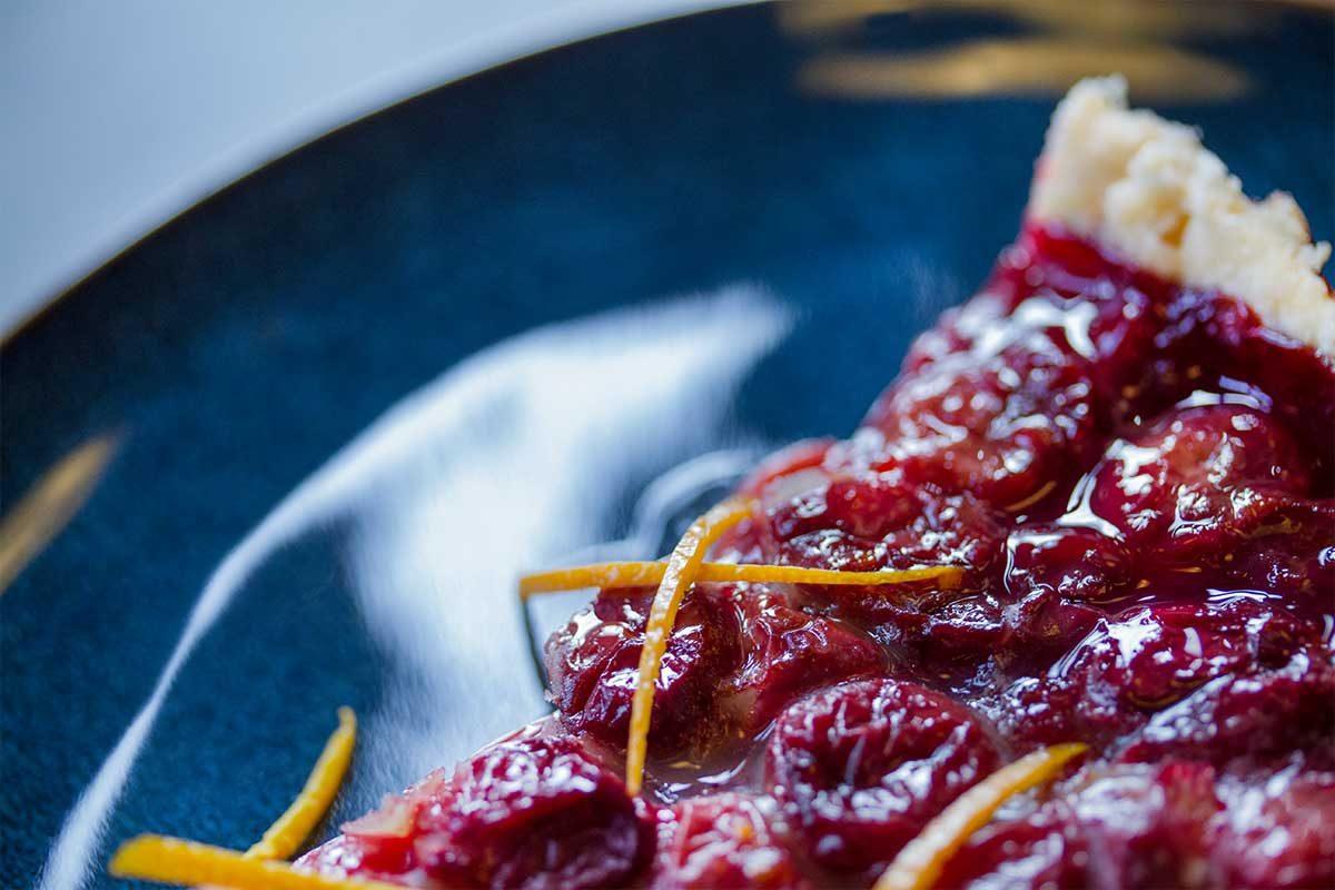 orange cherry tart