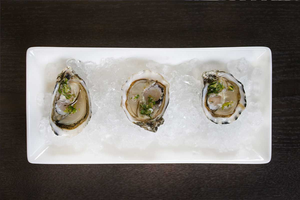 Oysters with Lovage Mignonette