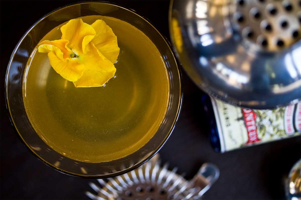 Elderflower Pansy Cocktail