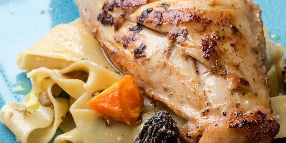 Pappardelle w/ Rabbit & Wild Mushrooms