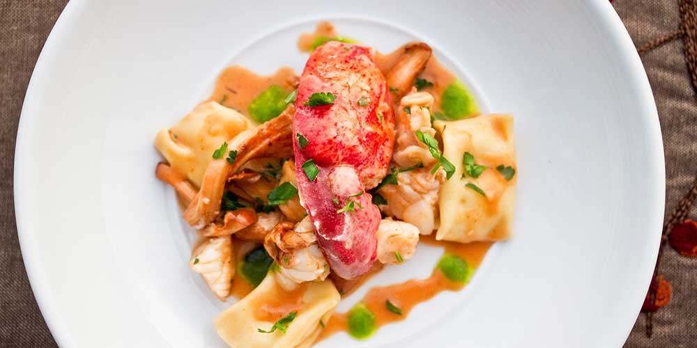 Chanterelle Lobster Pasta