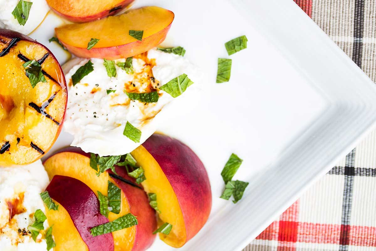 peach burrata