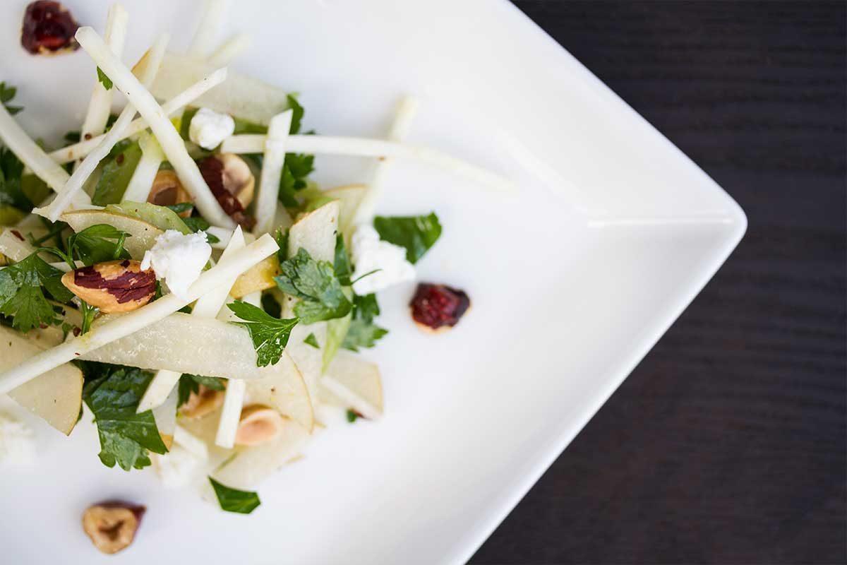 pear celebery hazelnut salad