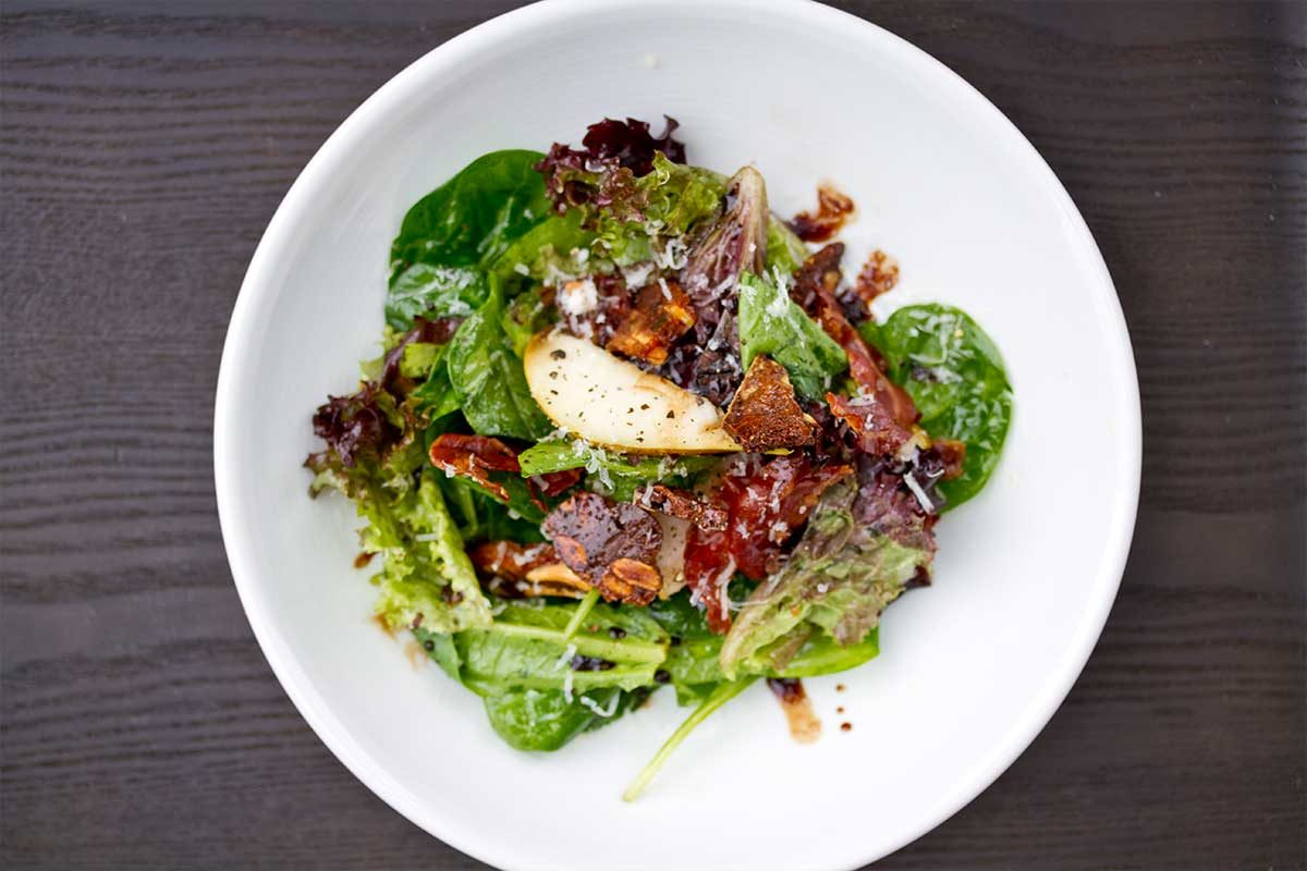 Pear, Panforte & Pancetta Salad