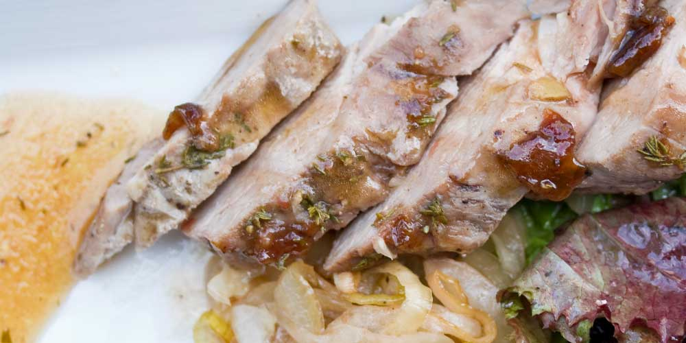 Plum-Glazed Kurobuta Pork Tenderloin