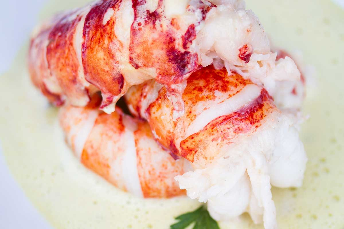 Poached Lobster Tails Lemon Thyme Butter