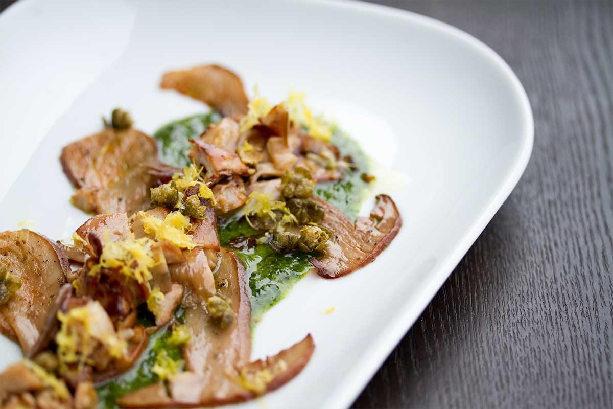 Porcini Salad Lemon Capers