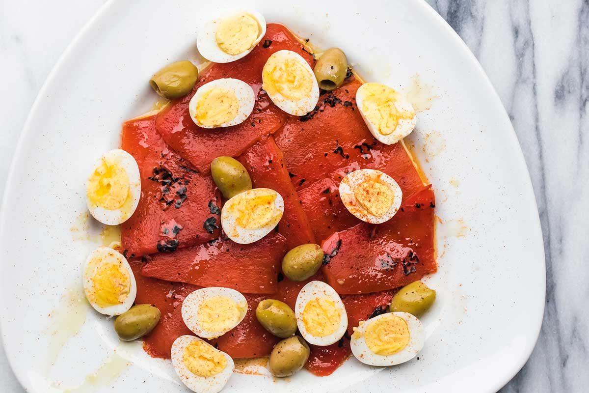 Quail Egg Peppers Olives