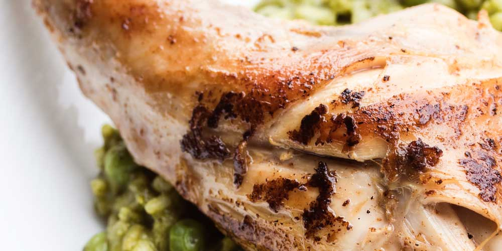 Rabbit with Green Risotto