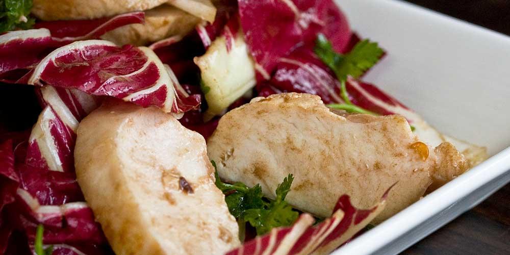 Treviso & Black Garlic Rabbit Salad