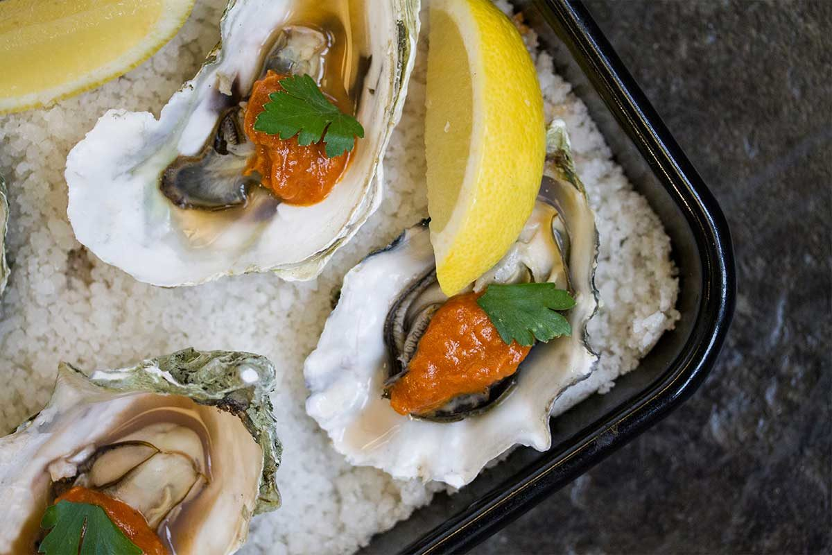roast oyster cocktail sauce