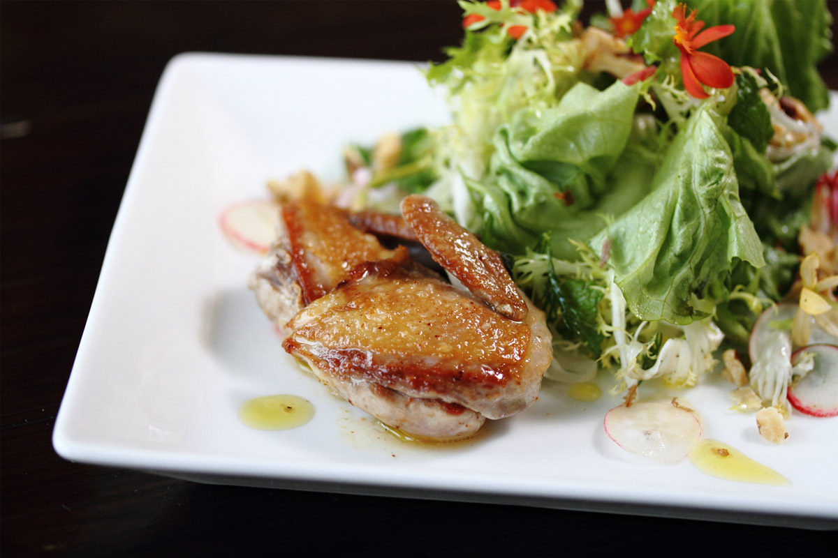 Roasted Quail Salad