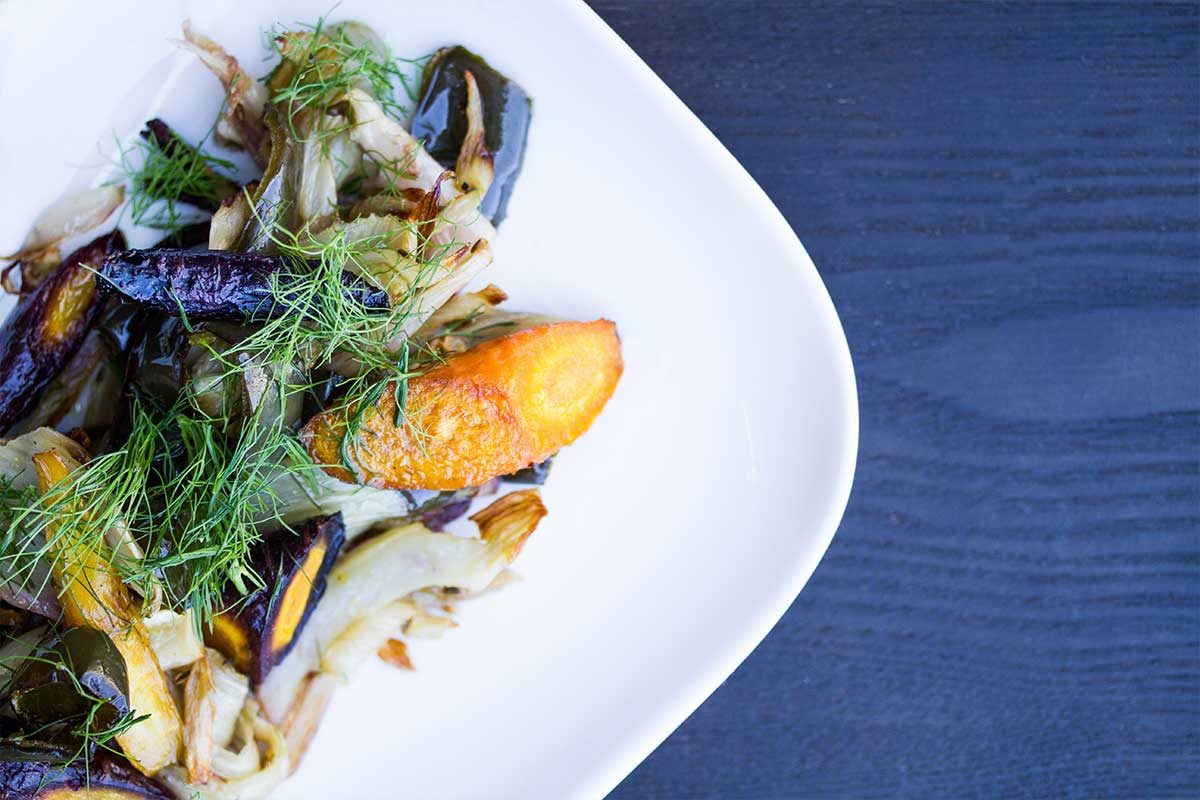 Roasted Fennel Carrots Poblano