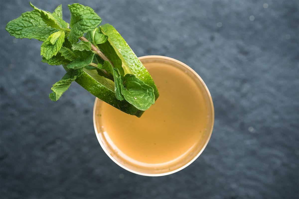 Rum Mint Shrub Cocktail