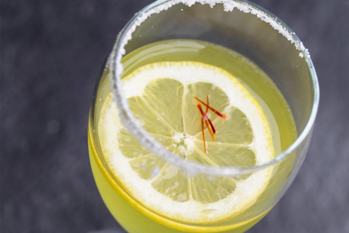 Saffron Blanco Rum Crusta