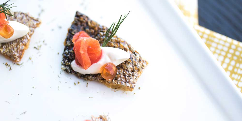 Salmon Chip Amuse Bouche - Marx Foods Blog
