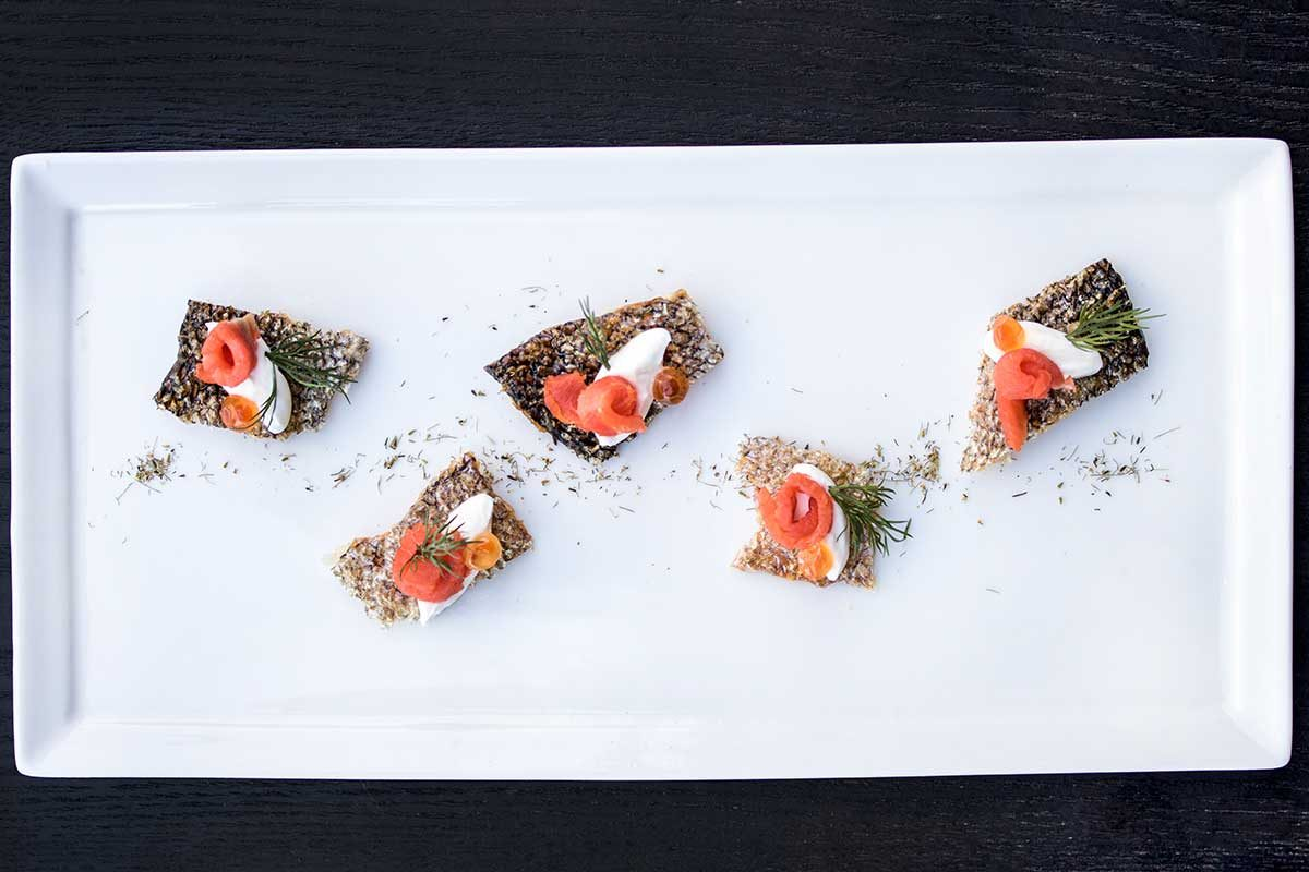 Salmon Chip Amuse Bouche