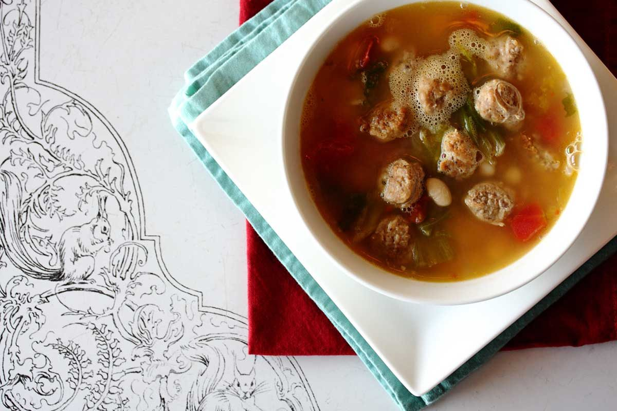 Sausage, Escarole & White Bean Soup