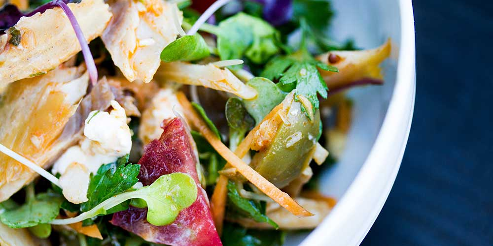 Smoked Trout Salad with Pine Nut Paprika Vinaigrette