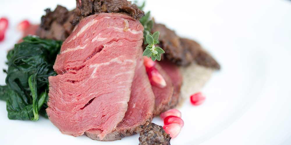 Sous Vide Grass-fed Beef Tenderloin Steaks w/ Morel Cream