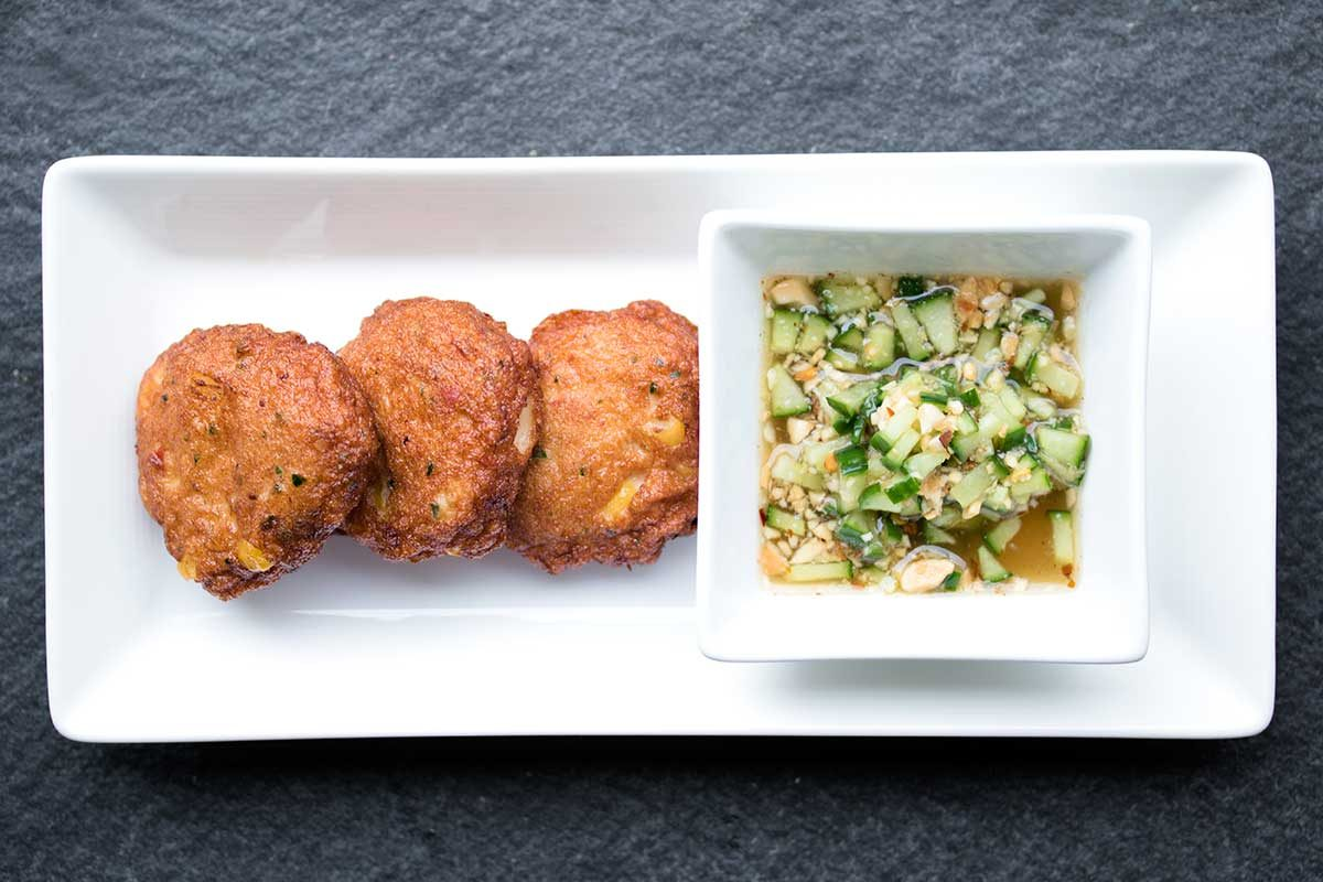 Thai Fish Cakes Spicy Cucumber Sauce