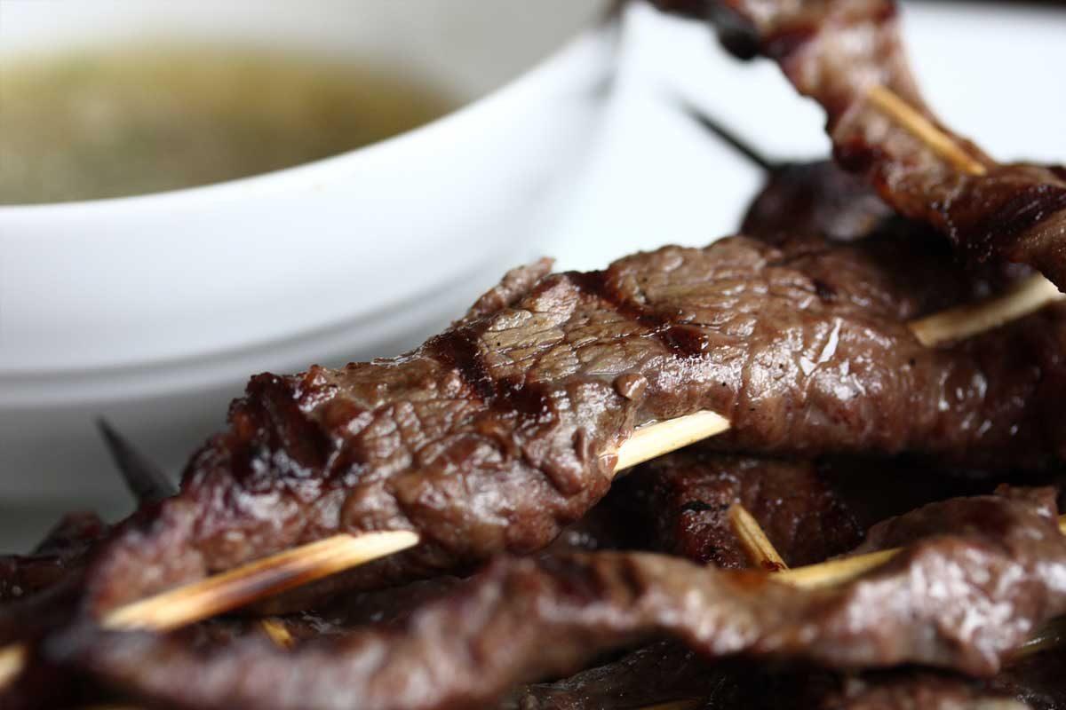 Tri Tip Beef Satay
