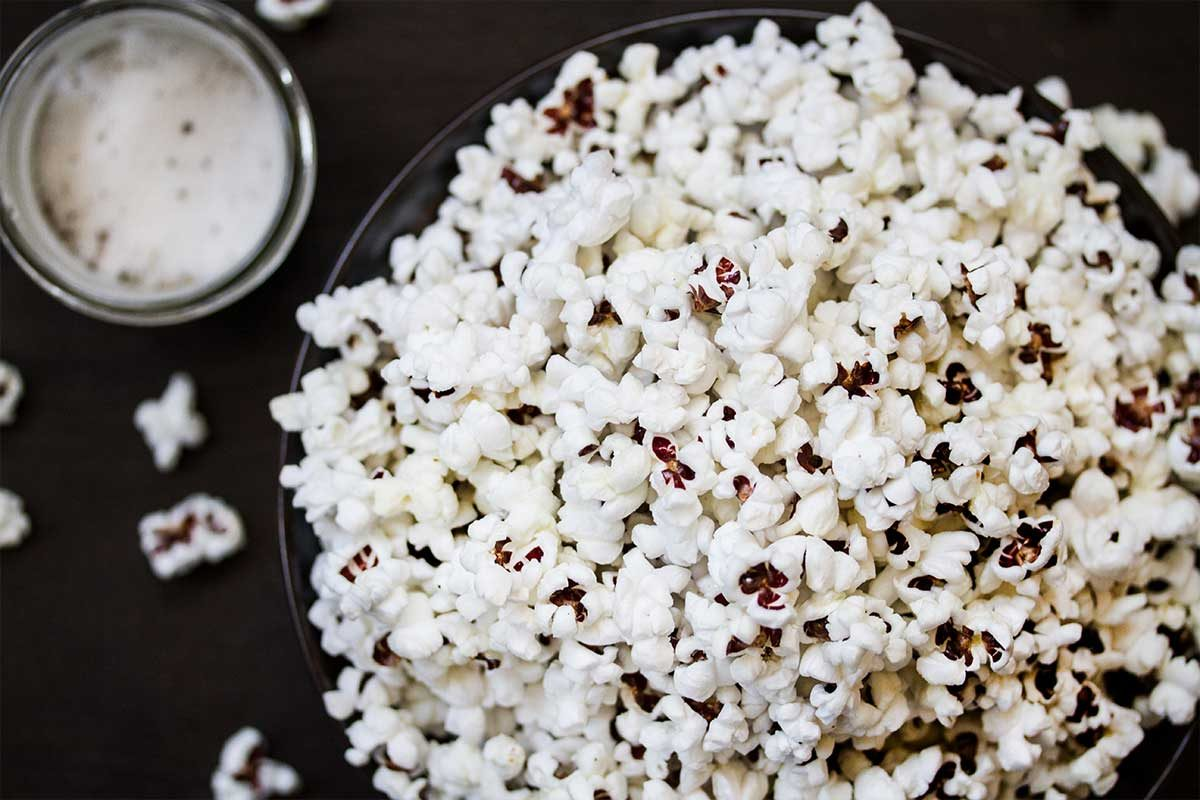 Truffled Popcorn w/ Extra Virgin Olive Oil