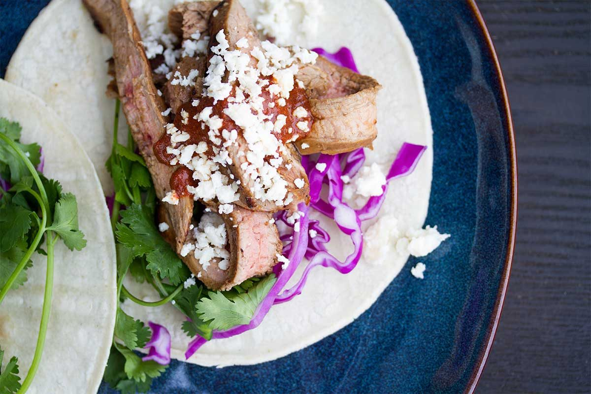Veal Flank Steak Tacos