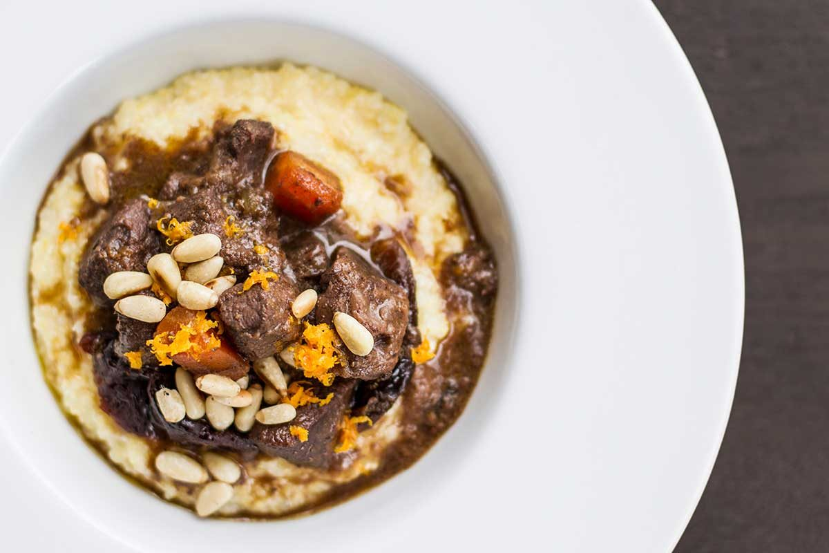 Venison Stew w/ Prunes & Orange