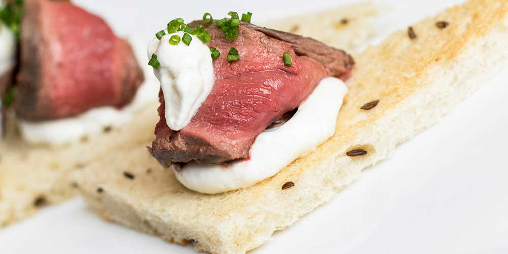 Karen Oliver's Venison Appetizers with Horseradish Cream Sauce