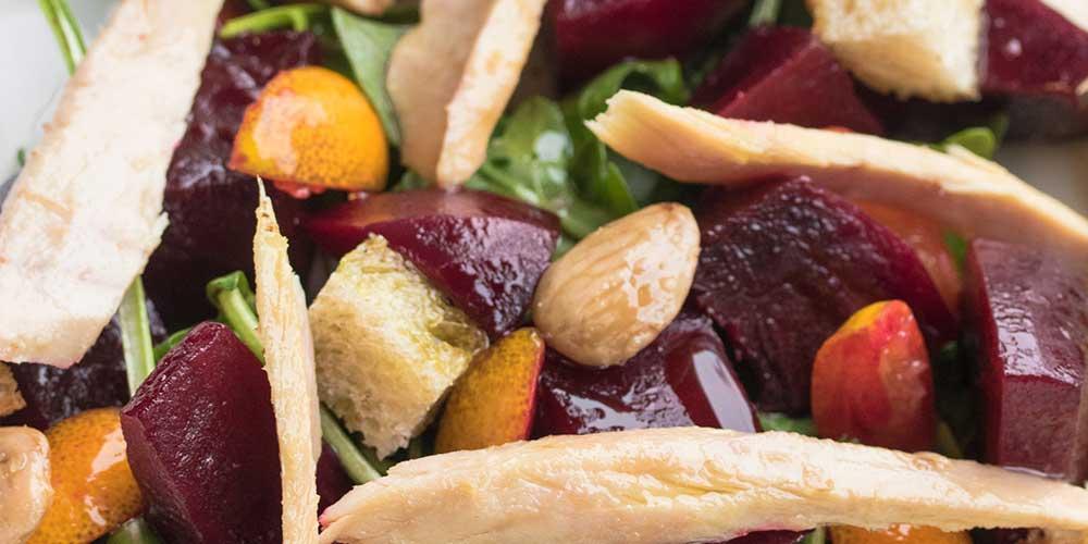 Ventresca Salad w/ Beets, Almonds & Arugula