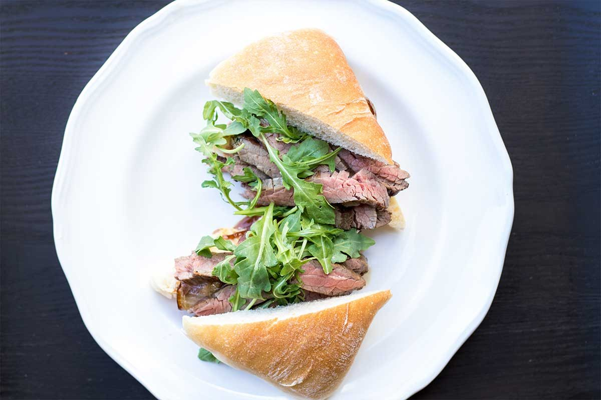 Wagyu Flank Steak Sandwich