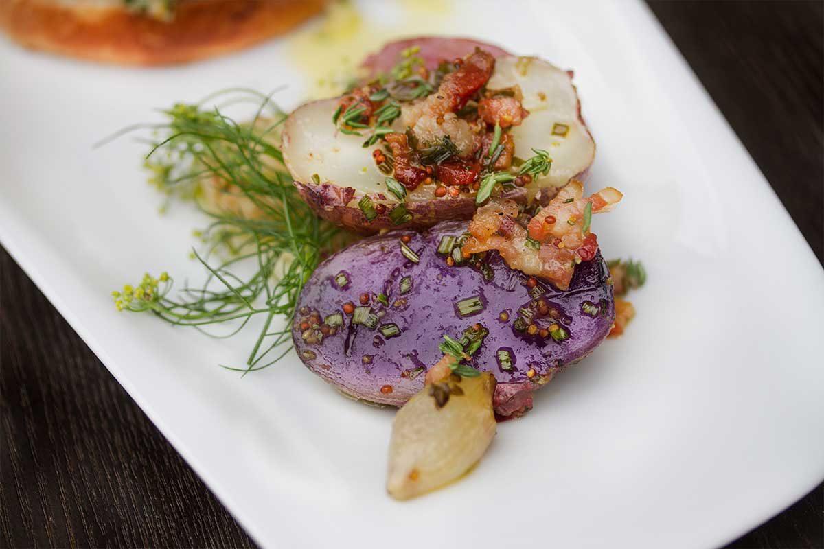 Warm Bacon & Mustard Potato Salad