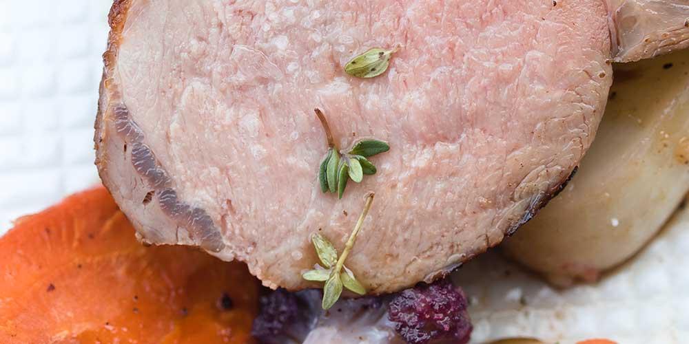 Wild Boar w/ Apple, Turnips & Cauliflower