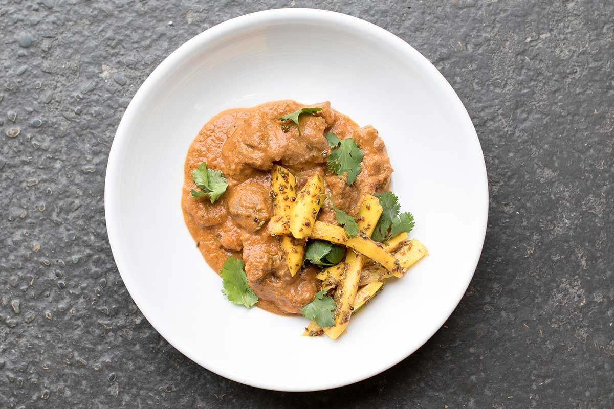 Wild Boar Masala Curry w/ Mango Pickle