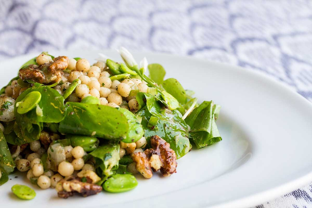 Wild Spring Produce & Couscous Salad
