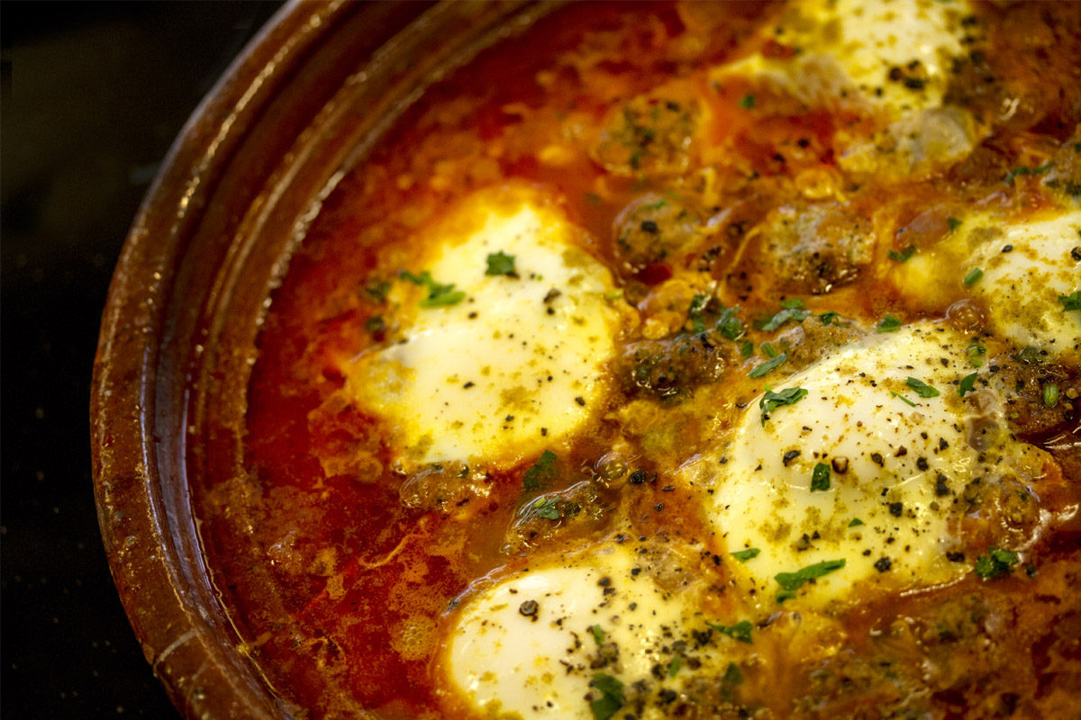 Morrocan Egg, Tomato & Meatball Tagine