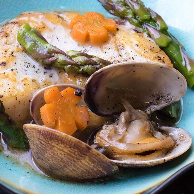 halibut and clam