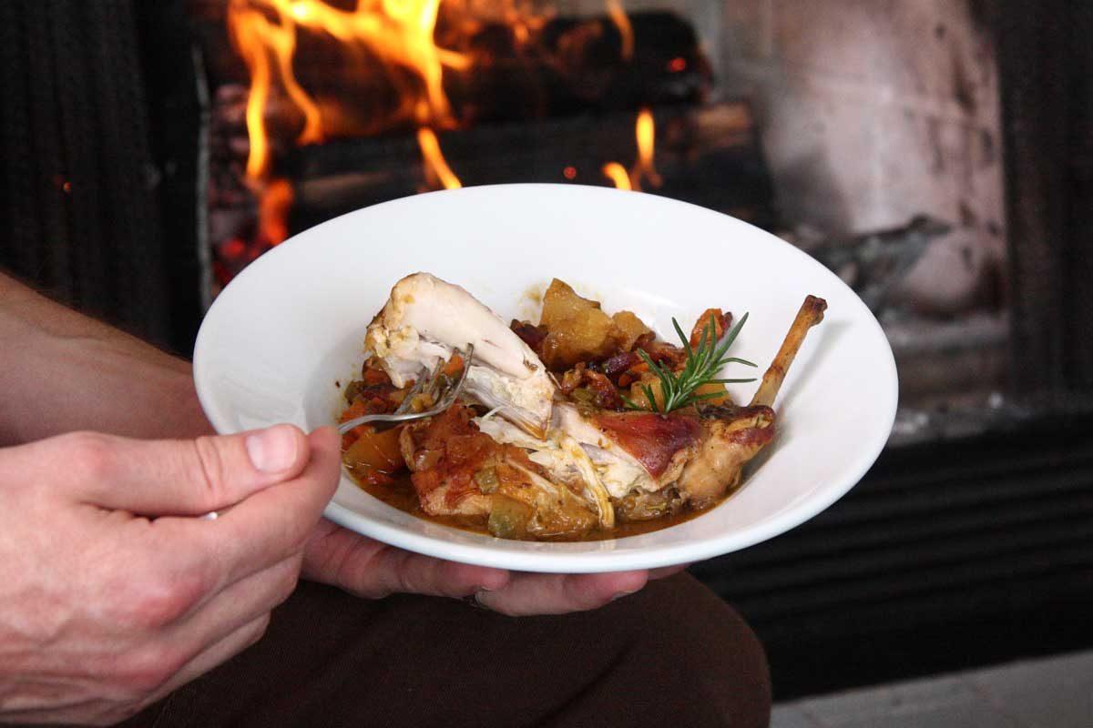 Lapin au Vin (Rabbit Stew)