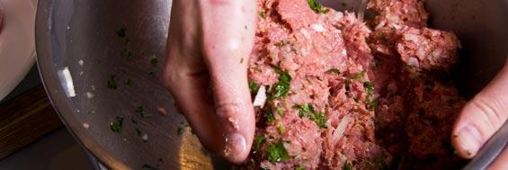 mixing-wild-boar-meatballs