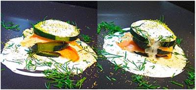 salmon-cucumber-dill-pollen-creme-fraiche